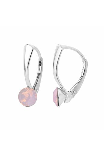 Ohrringe rosa Opal Swarovski Kristall 6mm - Silber - ARLIZI 1452 - Lucy