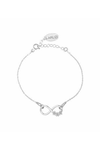 Armband Infinity Symbol Blumen - Silber - ARLIZI 1319 - Kendal