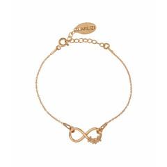 Armband infinity symbool bloem - rosé - 1321