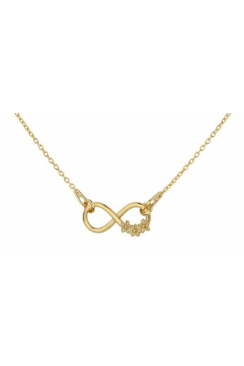 Necklace infinity pendant flowers - gold plated silver - ARLIZI 1317 - Kendal