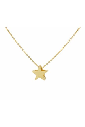 Necklace star pendant - gold plated silver - ARLIZI 1444 - Kendal