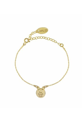 Armband live laugh love Charme - Silber vergoldet - ARLIZI 1450 - Kendal