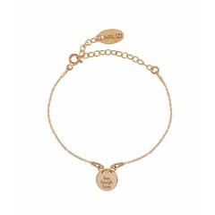 Armband bedel - rosé verguld zilver - 1451
