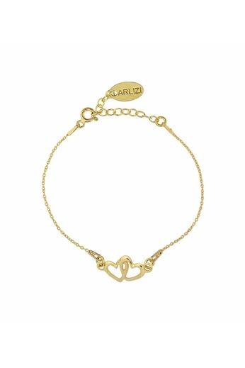 Armband Herzen - Silber vergoldet - ARLIZI 1327 - Kendal