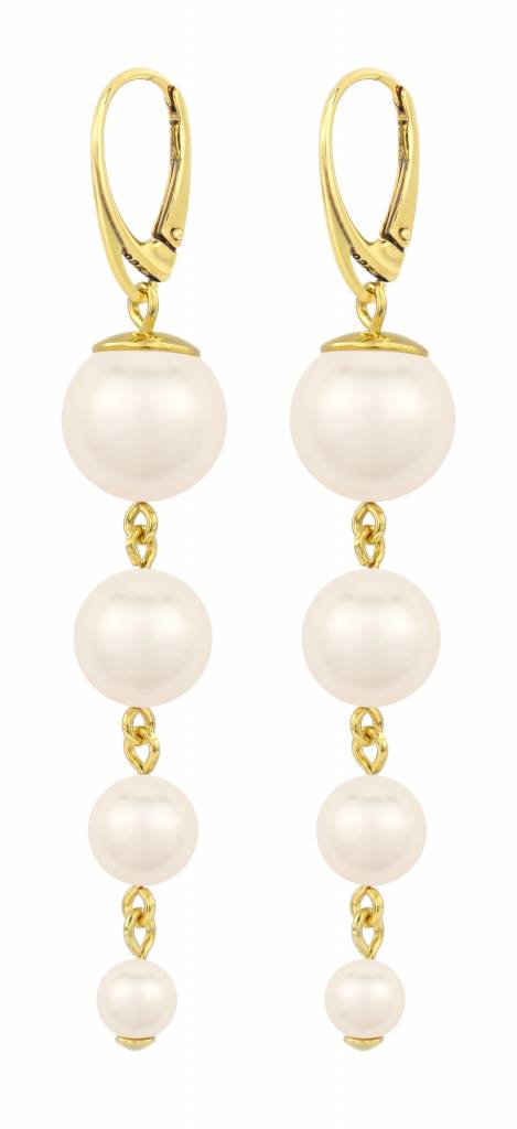Pearl Earrings Cream Gold Plated Sterling Silver Arlizi 1336 Nora