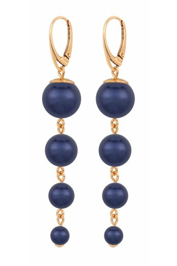 Pearl earrings blue - rose gold plated sterling silver - ARLIZI 1339 - Nora