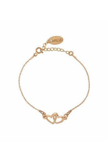 Armband Herzen - 18K rosé vergoldet 925 Silber - ARLIZI 1506 - Kendal