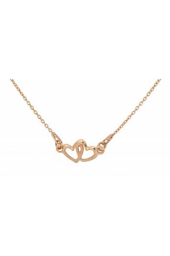 Halskette Herzen Anhänger - rosé vergoldet Silber - ARLIZI 1507 - Kendal