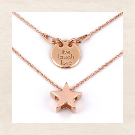 ARLIZI jewelry rose gold necklaces