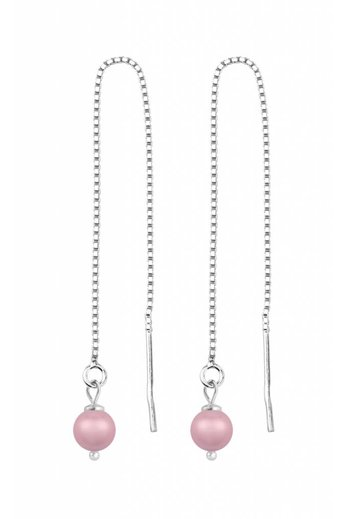 Durchzieher Ohrringe rosa Perle - Silber - ARLIZI 1509 - Emma