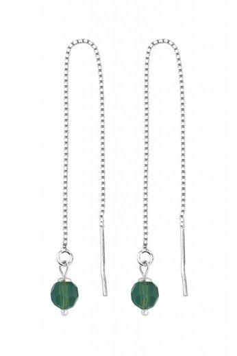 Durchzieher Ohrringe grün Swarovski Kristall - Silber - ARLIZI 1510 - Emma