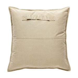 HUBSCH PILLOW WITH HANDLE (beige, incl. filling)