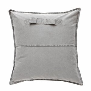 HUBSCH PILLOW WITH HANDLE (grey, incl. filling)