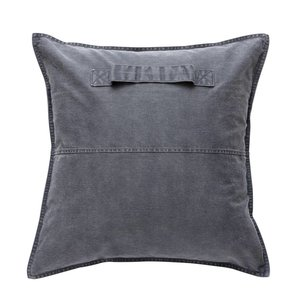 HUBSCH PILLOW WITH HANDLE (denim, incl. filling)
