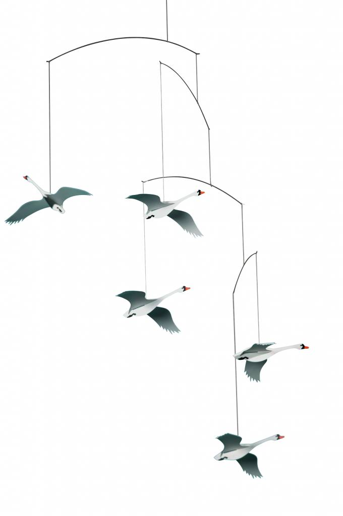 SCANDINAVIAN SWANS MOBILE - GASPARD by Carole Lantsoght