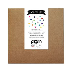 PÖM DOTS MUURSTICKERS - MULTICOLOR