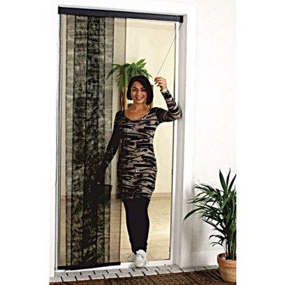fliegengitter vorhang mit zugkordel 114 x 250 cm gewebe profi. Black Bedroom Furniture Sets. Home Design Ideas