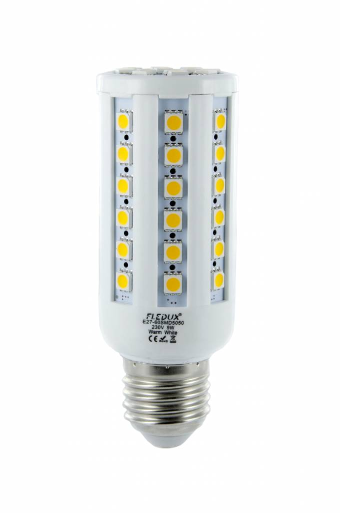 fledux e27 led lamp 9 watt 600 lumen fledux led lampen led verlichting led spots. Black Bedroom Furniture Sets. Home Design Ideas