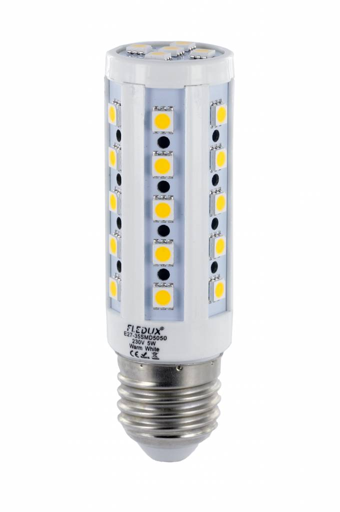 fledux e27 led lamp 5 watt 400 lumen fledux led lampen led verlichting led spots. Black Bedroom Furniture Sets. Home Design Ideas