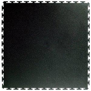 PVC kliktegel - motief: Hamerslag (textured) - kleur: Zwart-Recycled
