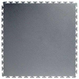 PVC kliktegel: hamerslag - kleur: grijs - recycled