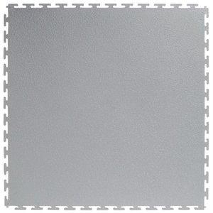 Flexi-Tile PVC kliktegel - motief: Hamerslag (textured) - kleur: Lichtgrijs
