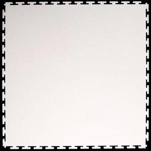PVC kliktegel - motief: Hamerslag (textured) - kleur: Wit