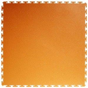 PVC kliktegel: Hamerslag - kleur: oranje 4.5 mm
