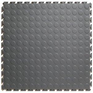 PVC kliktegel - motief: Noppen - kleur: Grijs-Recycled