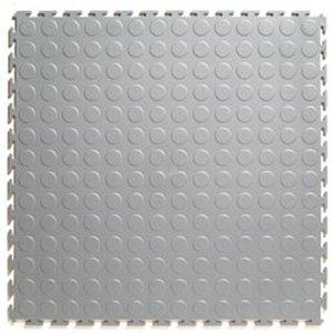 PVC kliktegel - motief: Noppen - kleur: Lichtgrijs
