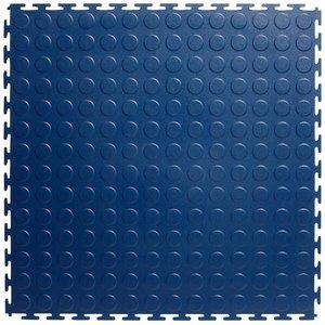 PVC kliktegel - motief: Noppen - kleur: Blauw