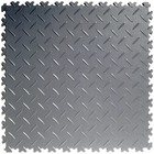Flexi-Tile PVC kliktegel - Diamant - Grijs-Recycled - 4mm