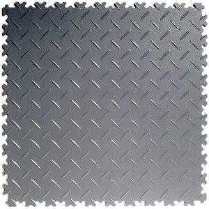 PVC kliktegel - motief: Diamant (tranenplaat) - kleur: Grijs-Recycled