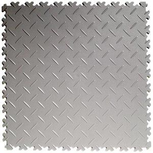 PVC kliktegel - motief: Diamant (tranenplaat) - kleur: Lichtgrijs