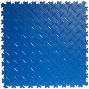 PVC kliktegel: diamant (tranenplaat) - kleur: blauw