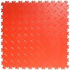 PVC Kliktegel - Diamant - Rood - 4mm