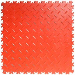 PVC kliktegel: diamant (tranenplaat) - kleur: rood