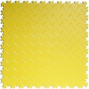 PVC kliktegel - motief: Diamant (tranenplaat) - kleur: Geel