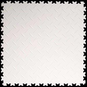PVC kliktegel - motief: Diamant (tranenplaat) - kleur: Wit