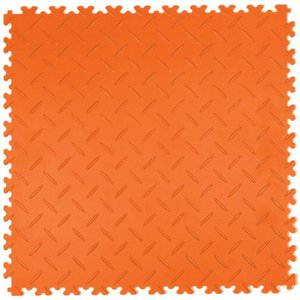 PVC kliktegel - motief: Diamant (tranenplaat) - kleur: Oranje