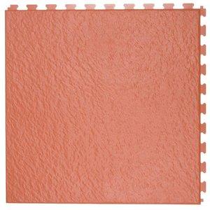PVC kliktegel - motief: Leisteen - kleur: Terracotta