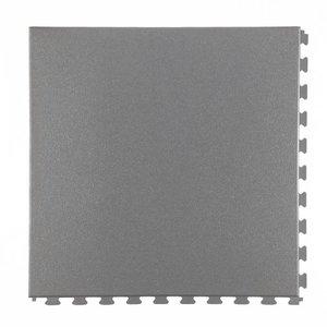 PVC kliktegel - motief: Hamerslag - kleur: Grijs-Recycled