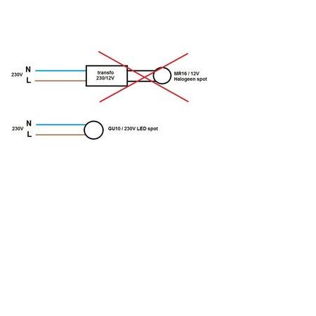 OSRAM Ombouwkit 50W Halogeen 12V -> 4.3W LED 230V