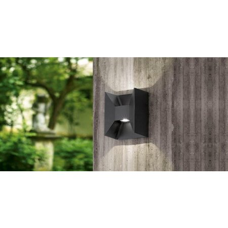 eglo morino 93319 led wandarmatuur buiten. Black Bedroom Furniture Sets. Home Design Ideas