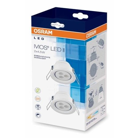 OSRAM IVIOS LED Inbouwspot 2 x4.5 W 41187 - perfectlights.be