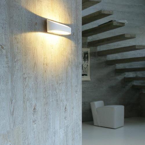 External Wall Light White : LED Outdoor Wall Light Brace white