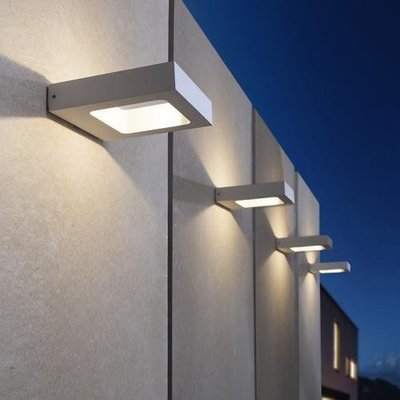 LioLights modern silver LED wall fixture IP54 MY381