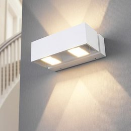 LioLights modern white LED wall light IP54 MY361