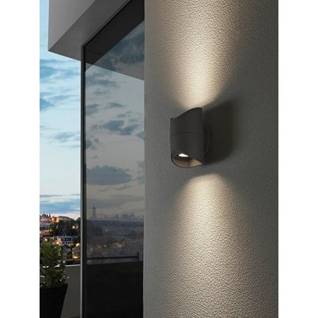 EGLO LED Wall lamp Abrantes 95076 black IP44