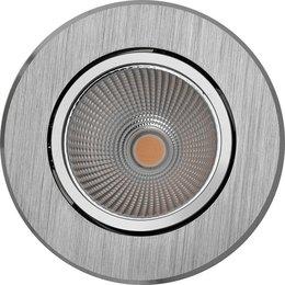PerfectLights LED COB 9W inbouwspot richtbaar ALU geborsteld dimbaar 01660060